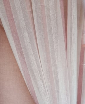 Tela visillo rayas rosas