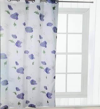 Visillos Lavanda flores moradas