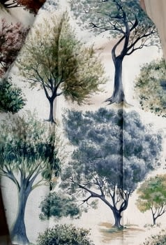 Tela árboles impresión digital - 4