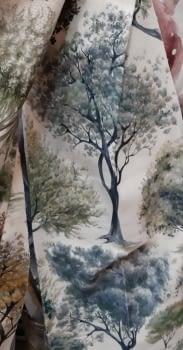 Tela árboles impresión digital - 5