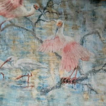 Tela flamencos Odiel rosa - 2