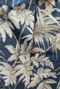 Tela palmeras azul rosa - 5