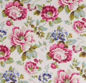 Tela flores Verdi Santa Amalia