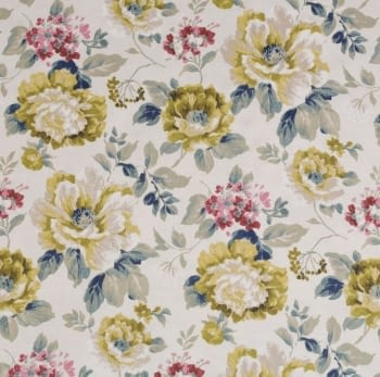 Tela flores Verdi Santa Amalia - 1
