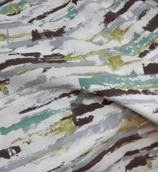 Tela loneta abstracta verde - 1