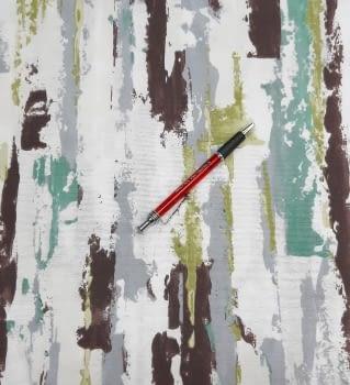 Tela loneta abstracta verde - 4