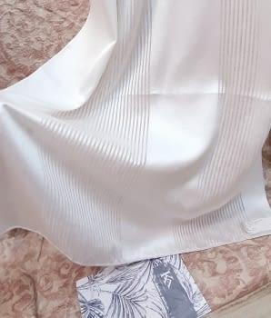 Tela visillo franjas blancas - 1