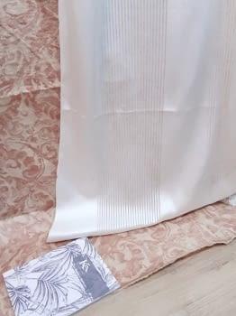 Tela visillo franjas blancas - 3