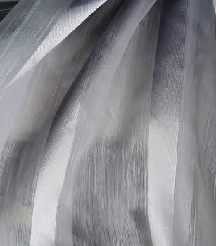 Tela visillo rayas organza gris