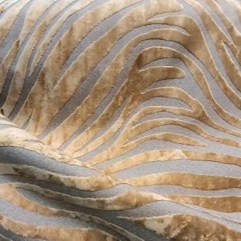 Tela lino cebra oro