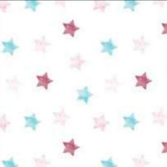 Tela loneta estrellas turquesas