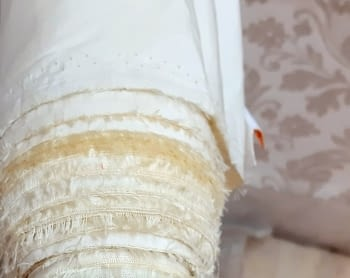 Tela forro seda amarillo 280 - 3