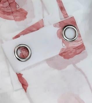 1 Visillo flor rosa Poppy - 1
