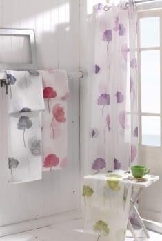1 Visillo flor rosa Poppy - 3