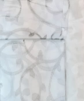 1 visillo blanco adamascado gris - 1