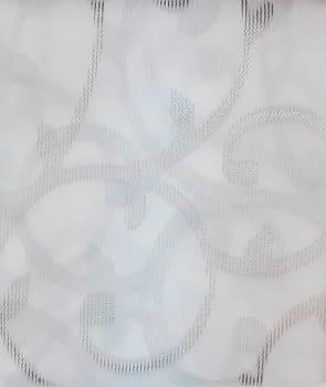 1 visillo blanco adamascado gris - 2