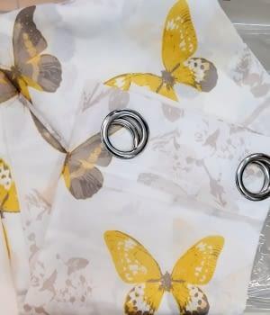 1 Visillo mariposas amarillo
