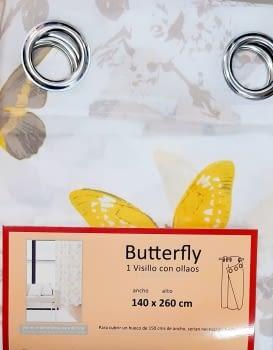 1 Visillo mariposas amarillo - 1