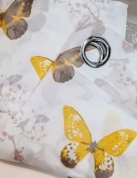 1 Visillo mariposas amarillo - 2
