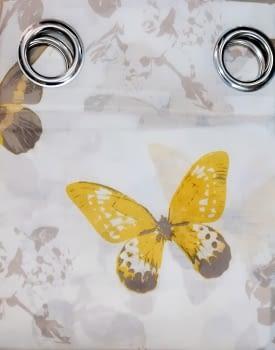 1 Visillo mariposas amarillo - 3