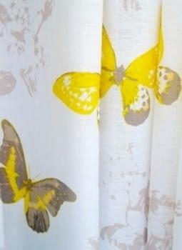 1 Visillo mariposas amarillo - 5