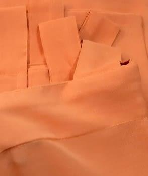 1 Visillo presillas crep naranja