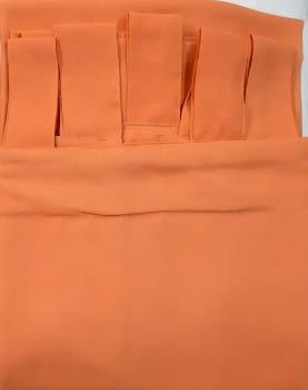1 Visillo presillas crep naranja - 1