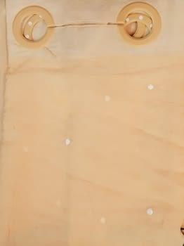 1 visillo bordado melocotón - 1
