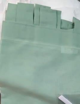 1 Visillo presillas verde