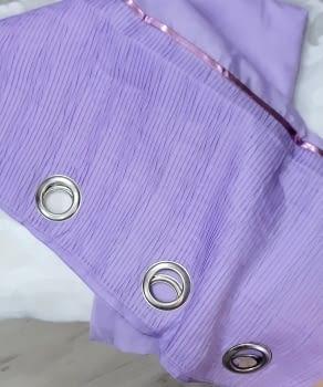 Visillo confeccionado lila
