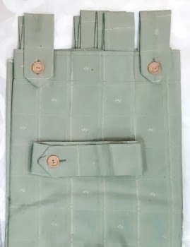 1 Cortina verde presillas + Abrazadera