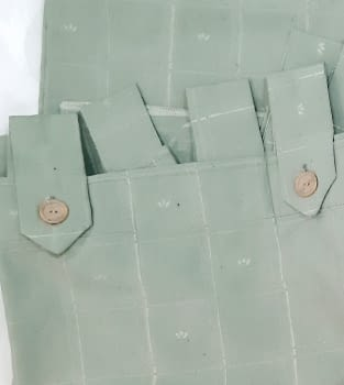 1 Cortina verde presillas + Abrazadera - 1