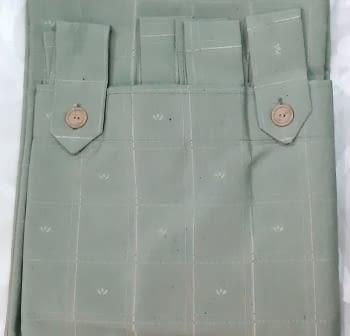 1 Cortina verde presillas + Abrazadera - 3