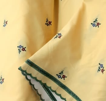 Tela amarilla algodón florecitas 150 - 5