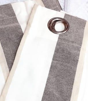 Cortinas confeccionadas rsyas marrones