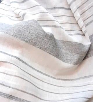 Tela visillo rayas horizontales grises 300