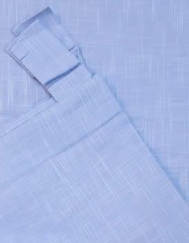 Visillos bordados azul presillas - 1