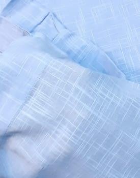 Visillos bordados azul presillas - 3