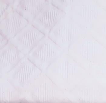 Colcha piqué rombos blanca - 1
