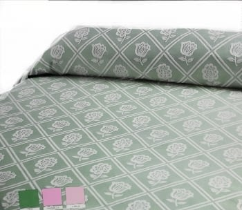Colcha reversible piqué verde cama 135 - 2