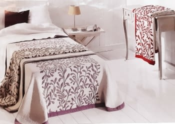Colcha Kent rojo cama 135 - 1