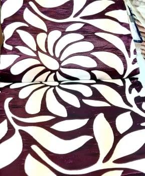 Colcha reversible hojas morada cama 135 - 5