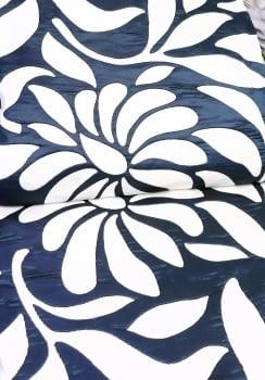 Colcha reversible hojas azul cama 90 - 2