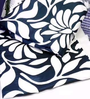 Colcha reversible hojas azul cama 90 - 3