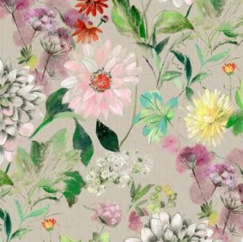 Tela flores Bianca acuarela 280