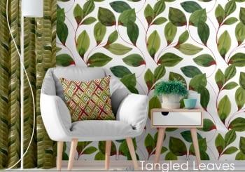 Tela hojas verdes 280
