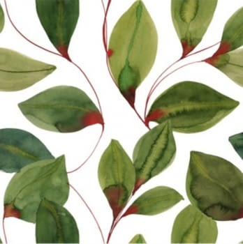 Tela hojas verdes 280 - 1
