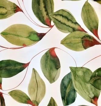 Tela hojas verdes 280 - 2