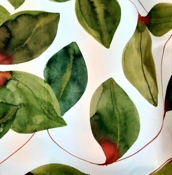 Tela hojas verdes 280 - 4