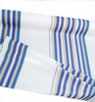 Tela otomán rayas azul 140
